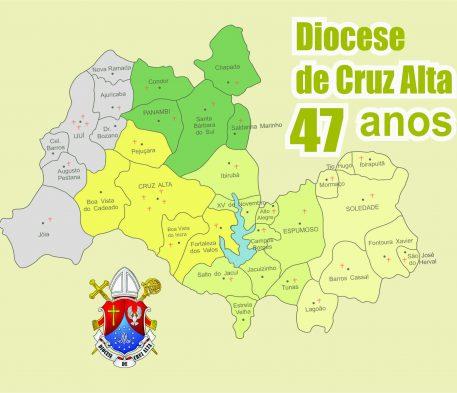 Diocese de Cruz Alta completa 47 anos de instalação