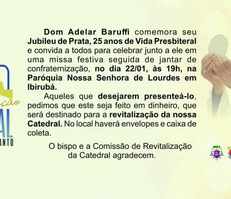 Jubileu de Prata do Bispo deve colaborar com a Revitalização da Catedral