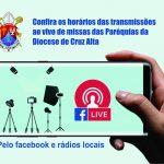 Confira os horários e plataformas de transmissão das missas