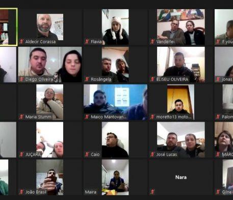 Setor juventude realiza reunião online com assessores