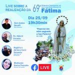 69ª Romaria de Fátima é tema de live nesta sexta-feira