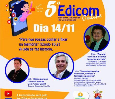 A quinta edição do Edicom será on-line