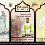 Convite para ordenação presbiteral de Cleiton Turela Moraes
