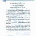 Decreto de Suspensão do Uso de Ordens – Pe. Márcio Fernandes